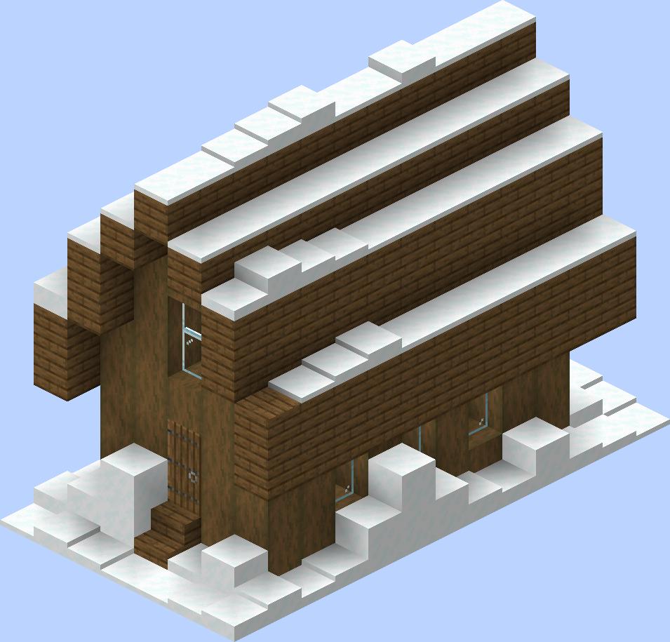 Village/Structure/Blueprints/Snowy library 8 blueprint – Official