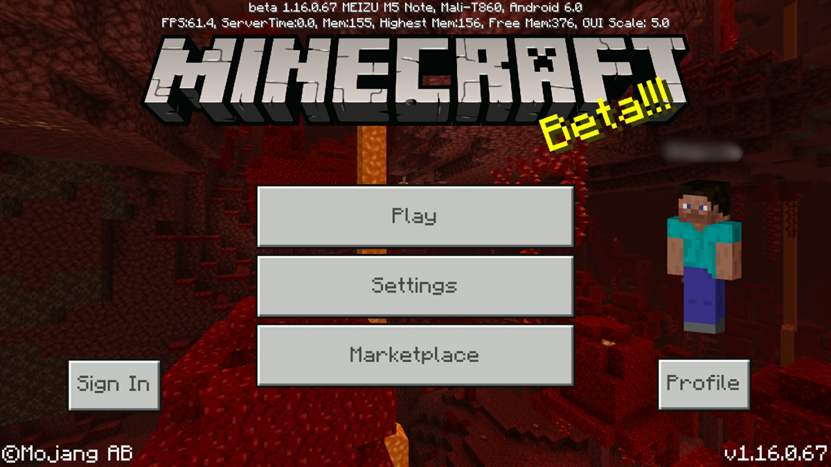 Bedrock Edition beta 1 16 0 67 Official Minecraft Wiki