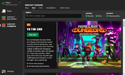 Minecraft Dungeons DLC Page in Launcher