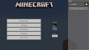 Menu Screen Official Minecraft Wiki