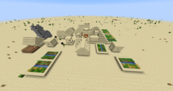 Zombie village next to a desert temple.png