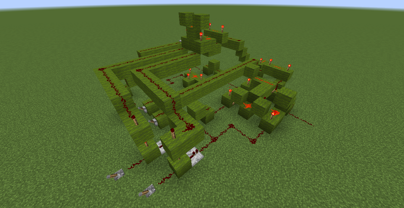 This is a screenshot of the actual 1 bit ALU in Minecraft