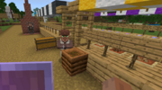 A villager staring at the player.