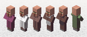 Old Villagers in Minecraft
