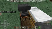 Crafting table and anvil