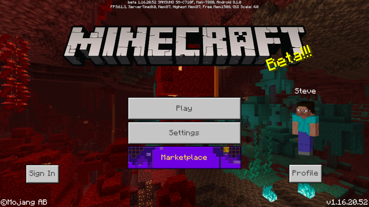Bedrock Edition Beta 1 16 20 52 Official Minecraft Wiki