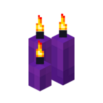 Three Purple Candles (lit).png