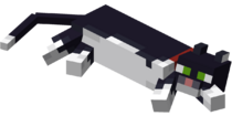Lying down Tuxedo Cat with Red Collar.png