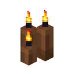 Three Brown Candles (lit).png