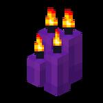 Four Purple Candles (lit).png