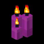 Three Magenta Candles (lit).png