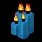 Four Light Blue Candles (lit).png