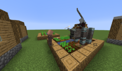 Pillager attacking villager.png