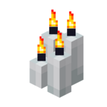Four White Candles (lit).png