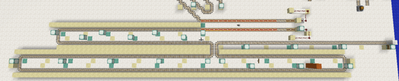 Sidewalls installed next to track