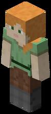 """De alternatieve standaard speler skin, """"Alex"""", zoals deze in het spel verschijnt."""