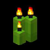 Три лаймовые свечи (горящие).png