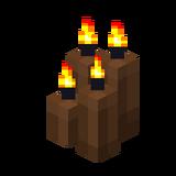 Четыре коричневые свечи (горящие).png