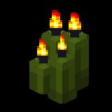 Четыре зелёные свечи (горящие).png