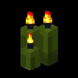 Три зелёные свечи (горящие).png