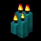 Четыре бирюзовые свечи (горящие).png