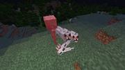 Волки атакуют скелета