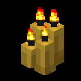 Четыре жёлтые свечи (горящие).png