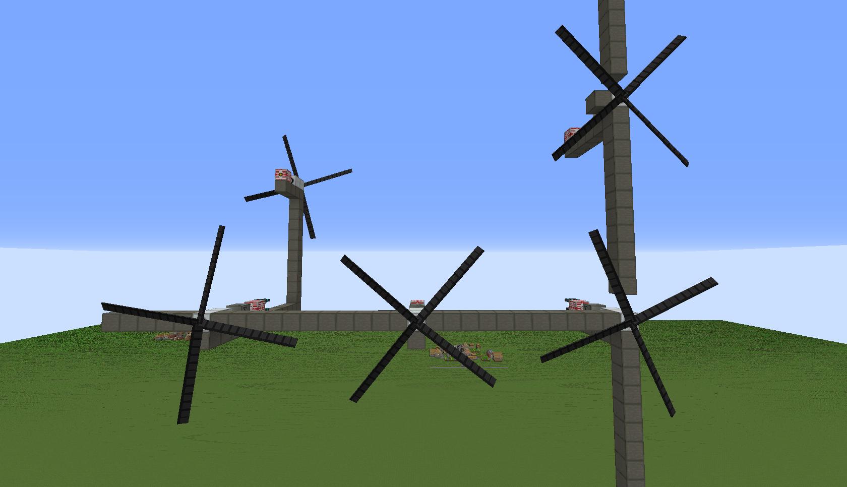 ветрогенераторы в майнкрафте и роторы #4