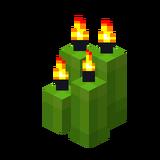 Четыре лаймовые свечи (горящие).png