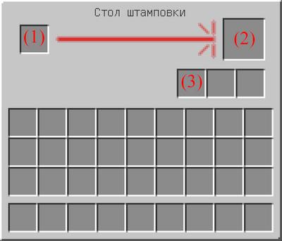 Интерфейс стола штамповки