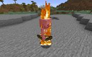 Скелет горит