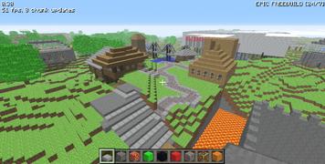 Mini-Town in Minecraft Classic 0.30
