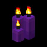 Три фиолетовые свечи (горящие).png