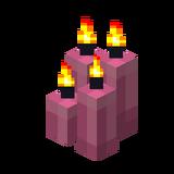Четыре розовые свечи (горящие).png