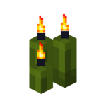 Three Green Candles (lit).png