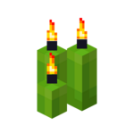 Three Lime Candles (lit).png