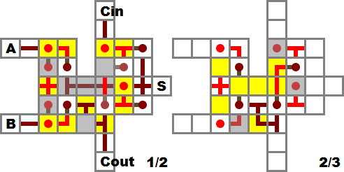74ls138做全加器方法电路图