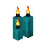 Three Cyan Candles (lit).png