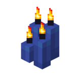Four Blue Candles (lit).png