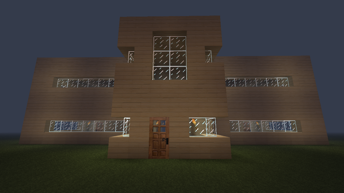 A large Minecraft house.