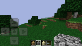 Pocket Edition 0.1.3 in game.png