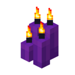 Four Purple Candles (lit).png