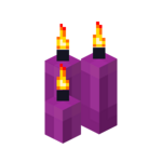 Three Magenta Candles (lit).png