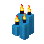 Four Light Blue Candles (lit).png