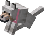 Sitting Tamed Wolf with Pink Collar.png