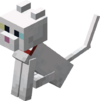 Sitting Tamed Baby White Cat with Red Collar.png