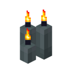 Three Gray Candles (lit).png