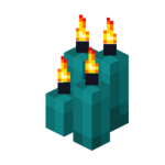 Four Cyan Candles (lit).png