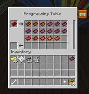 Programming Table GUI