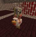 Bebé hombrecerdo zombi montado en un pollo